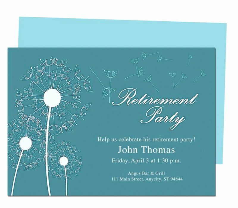 Free Retirement Template for Invitation – orderecigsjuicefo