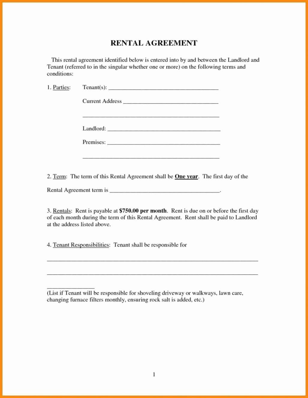 Free Room House Basic Rental Agreement Template