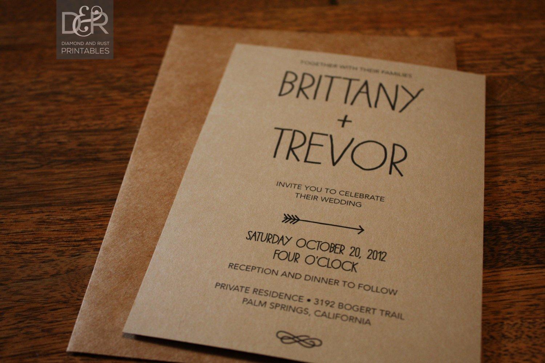 Free Rustic Wedding Invitation Templates Wedding and