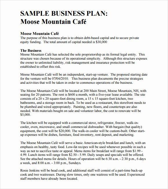 Free Sample Business Plan Letter 9 Best Images Of Sample