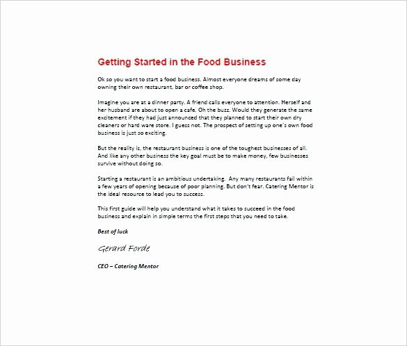 Free Sample Restaurant Business Plan Template Startup Word