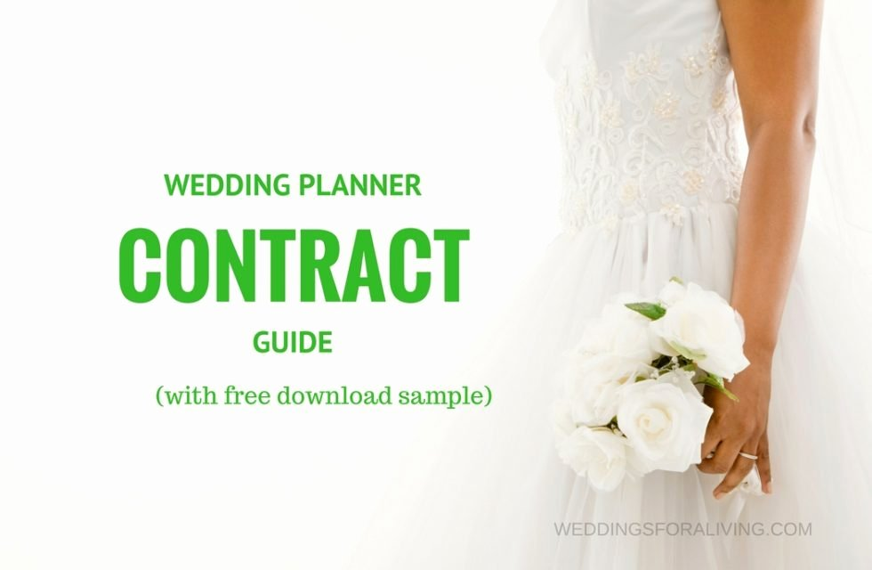 Free Sample Wedding Planner Contract