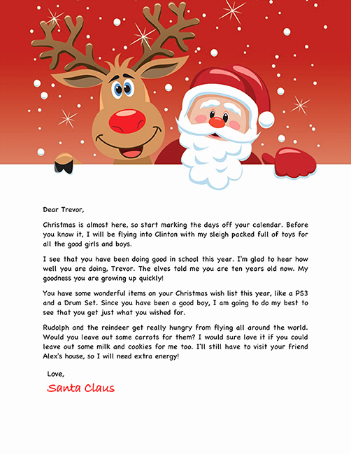 Free Santa Letter Holiday Christmas