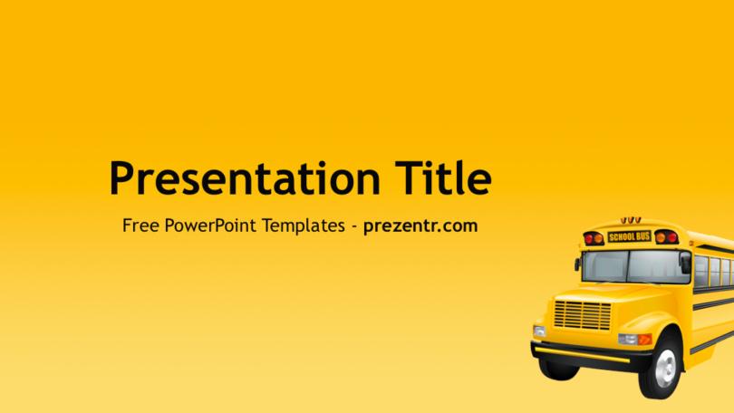 Free School Bus Powerpoint Template Prezentr