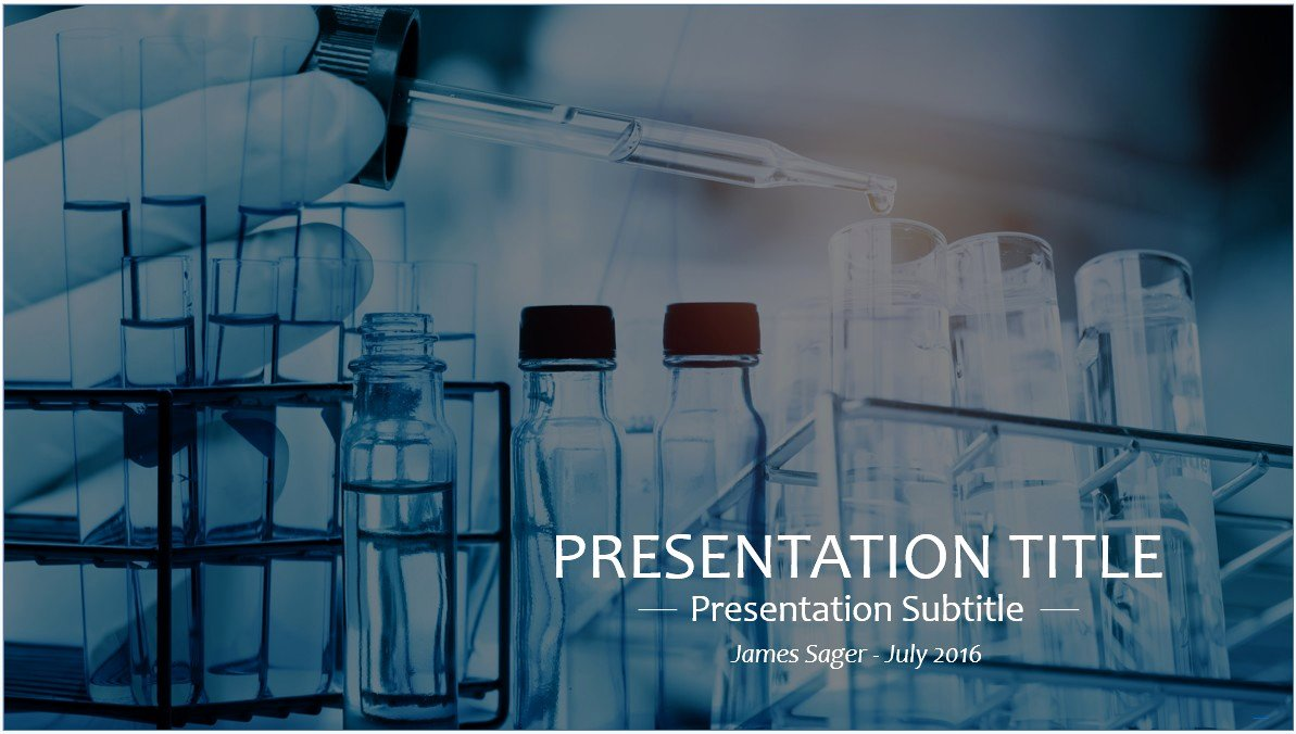 Free Science Lab Powerpoint Template 9246