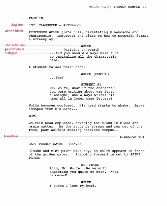 free screenplay template pages pdf