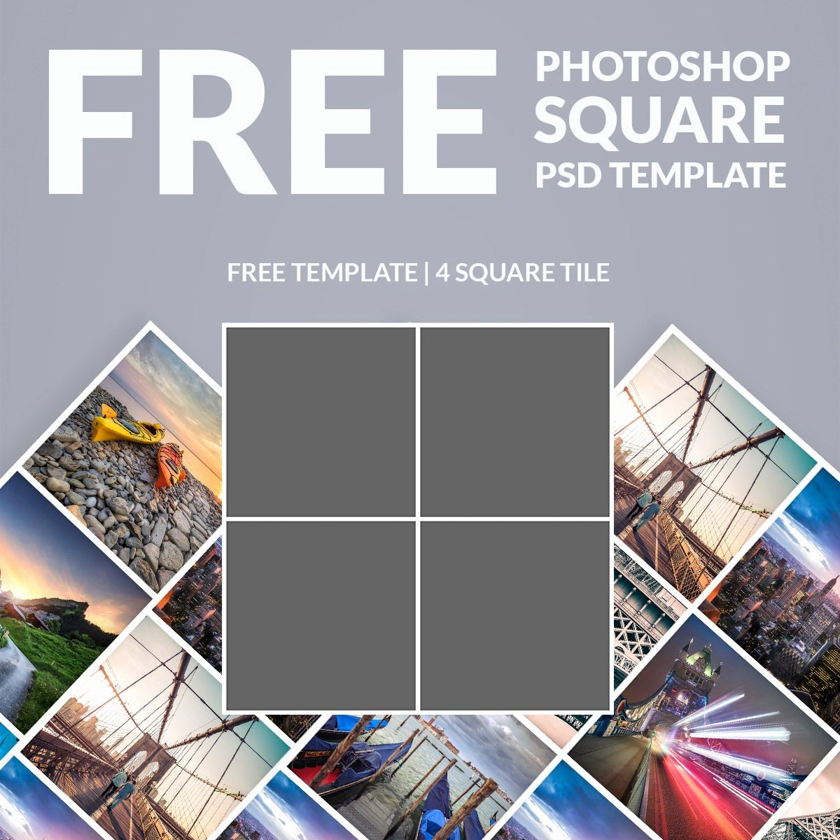Free Shop Template Collage Square Download now