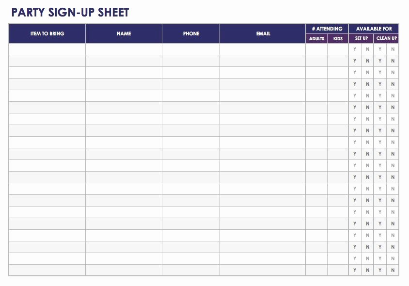 Free Sign In and Sign Up Sheet Templates