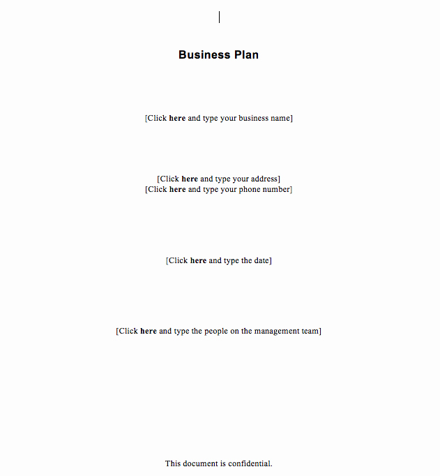 Free Simple Business Plan Template
