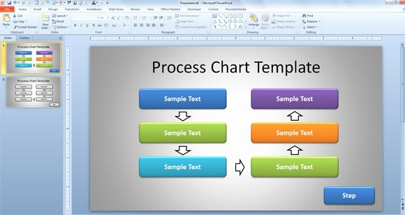 Free Simple Process Chart Template for Powerpoint