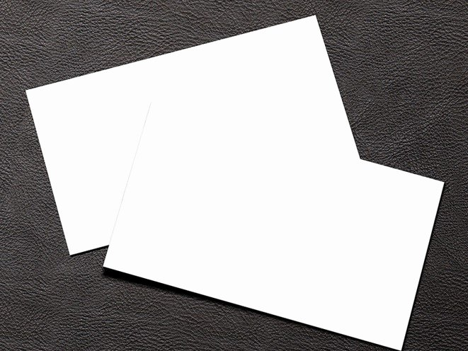 Free Simple White Blank Business Card Mockup Psd Titanui