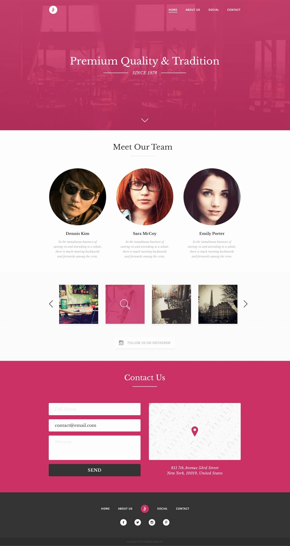 Free Single Page Website Templates Psd Css Author