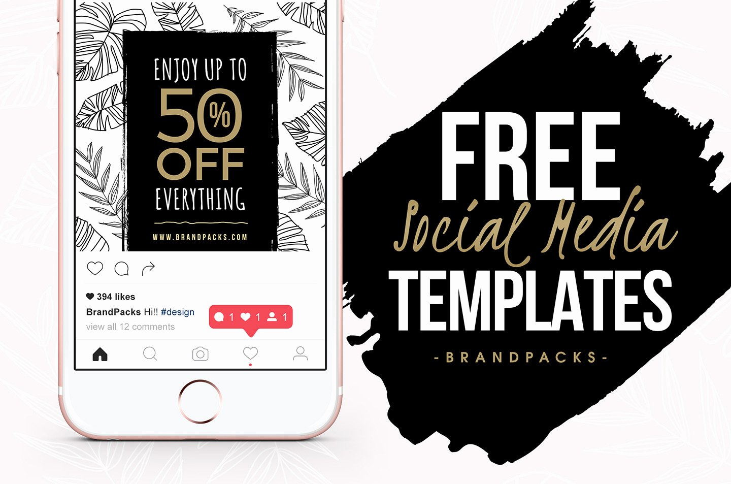 Free social Media Templates Pack for Shop