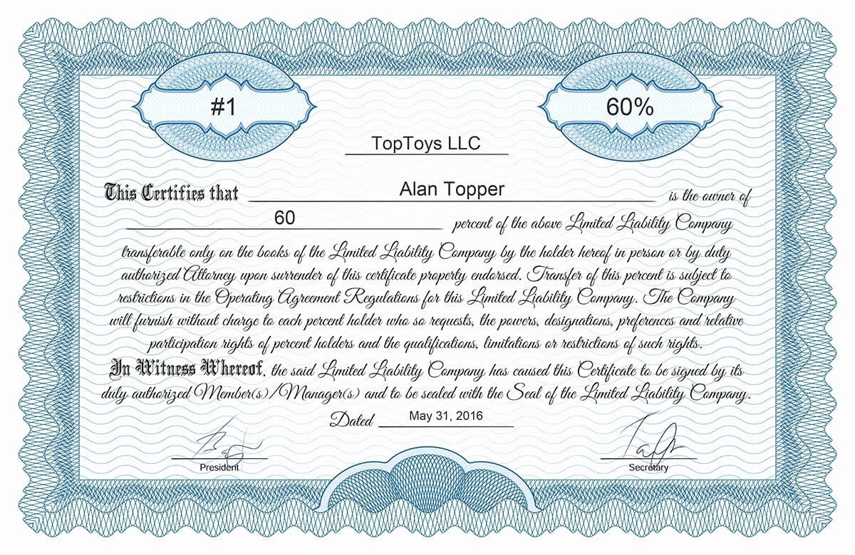 Free Stock Certificate Online Generator
