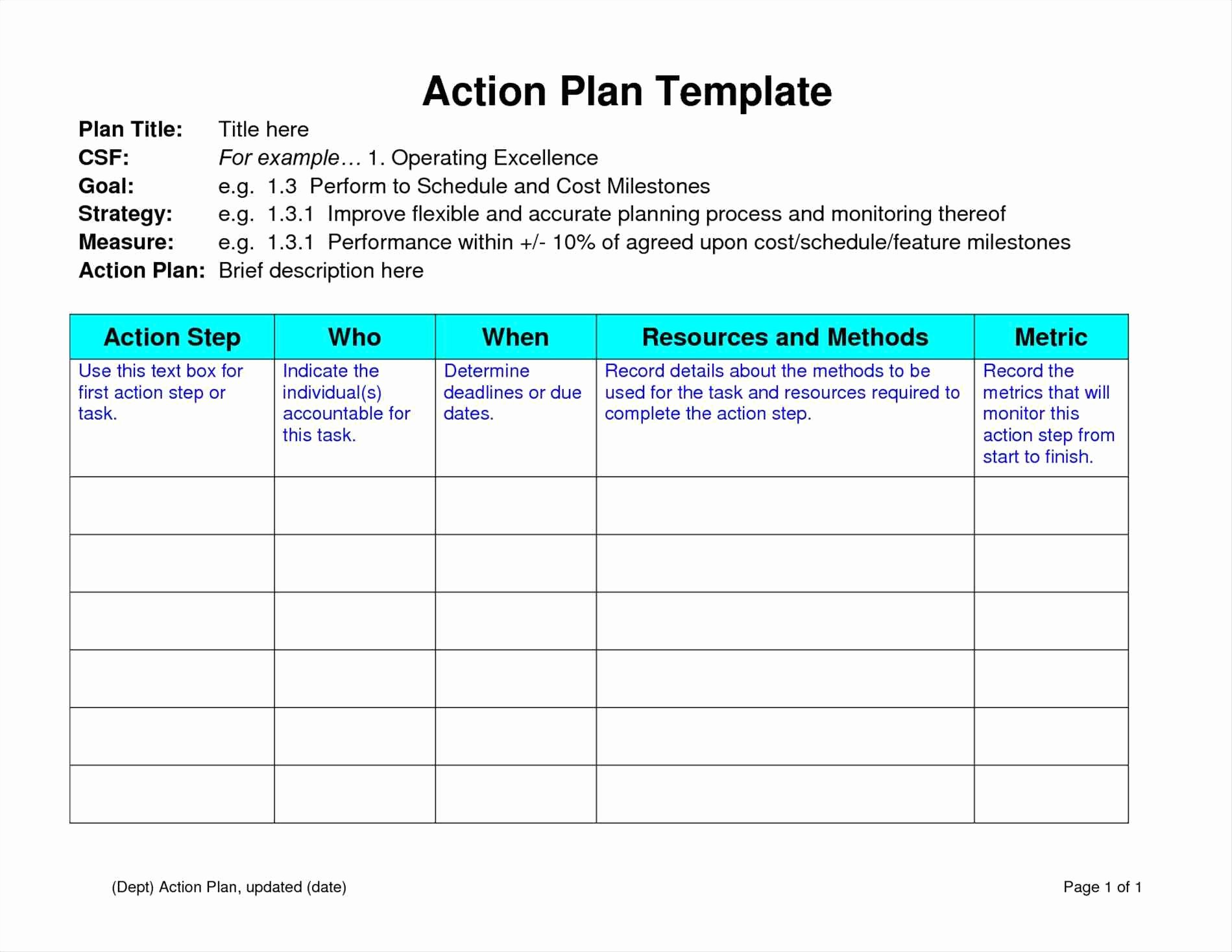 Free Strategic Plan Template Portablegasgrillweber