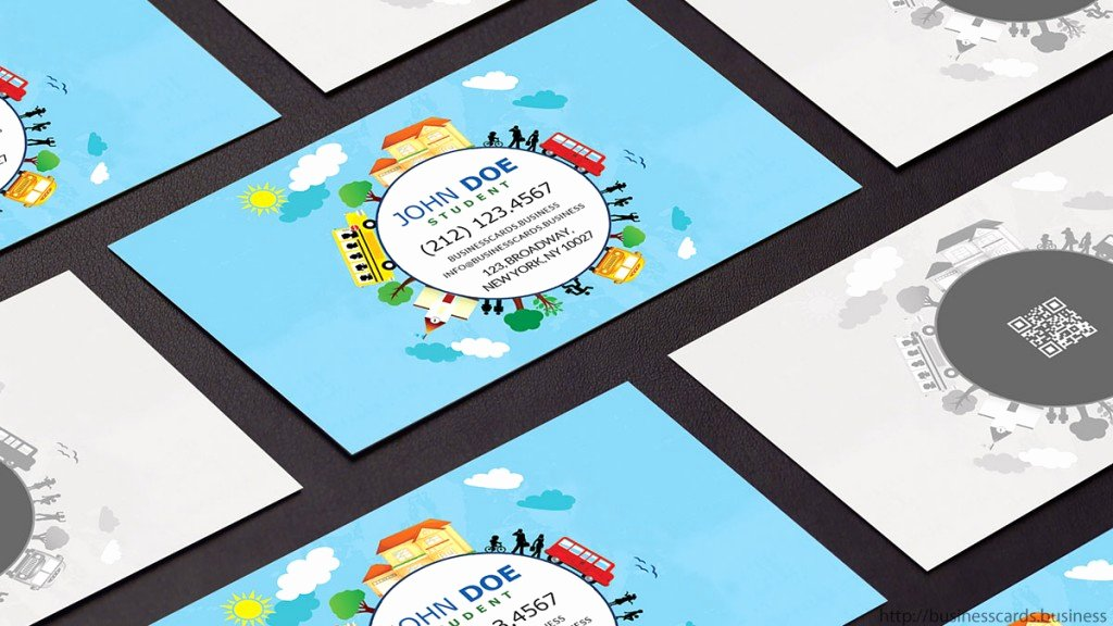 Free Student Business Card Template Business Cards Templates