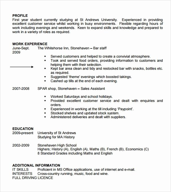 Free Student Resume Templates Best Resume Collection
