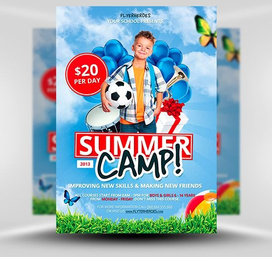 Free Summer Camp Flyer Template Free Psd Shop