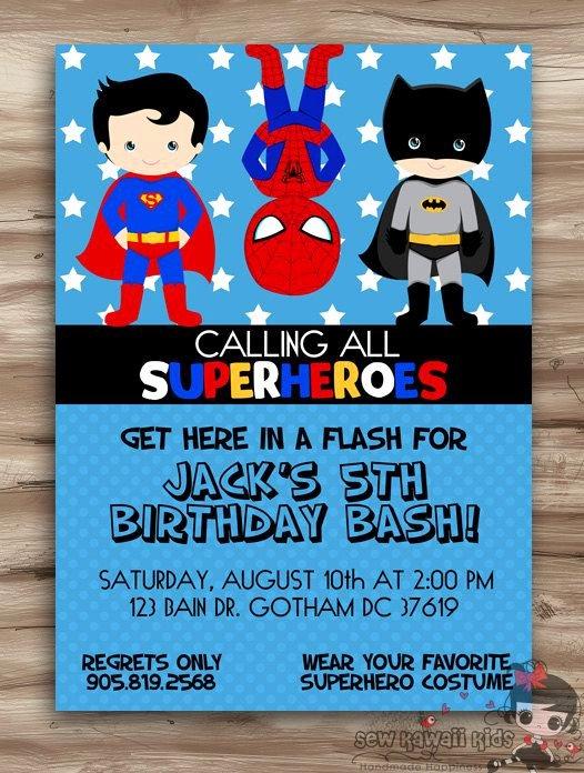 Free Superhero Invitation Template Best 25 Superhero