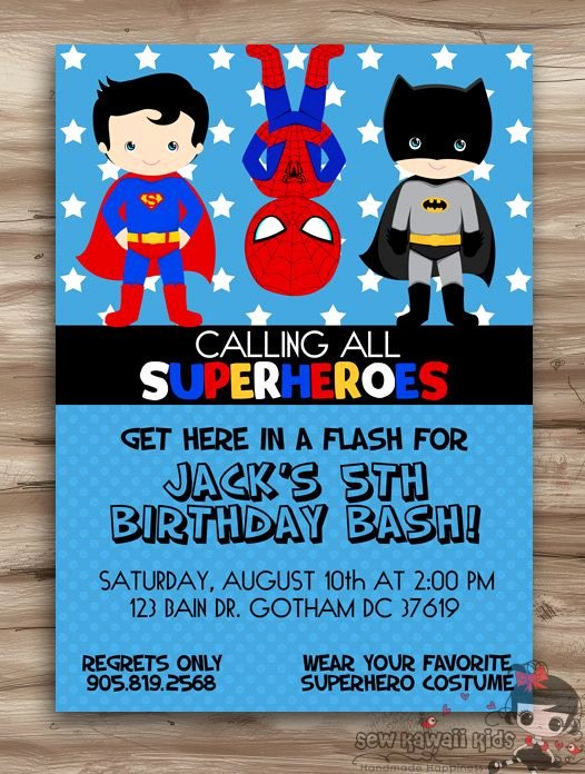 Free Superhero Invitation Template Best 25 Superhero