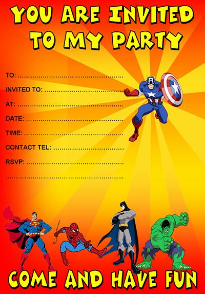 34 Superhero Birthday Invitation Templates Free Sample Latter