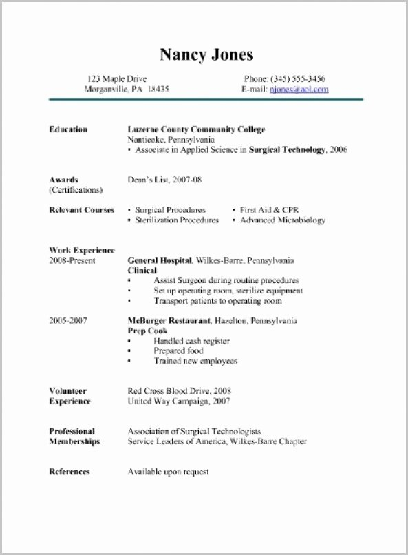 Free Surgical Tech Resume Samples Resume Resume