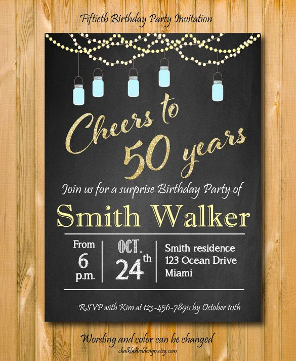 Free Surprise 50th Birthday Invitation – orderecigsjuicefo