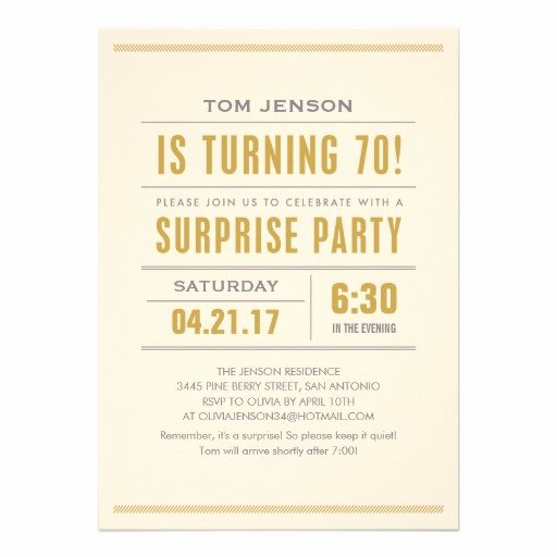 Free Surprise 70th Birthday Party Invitations Printable