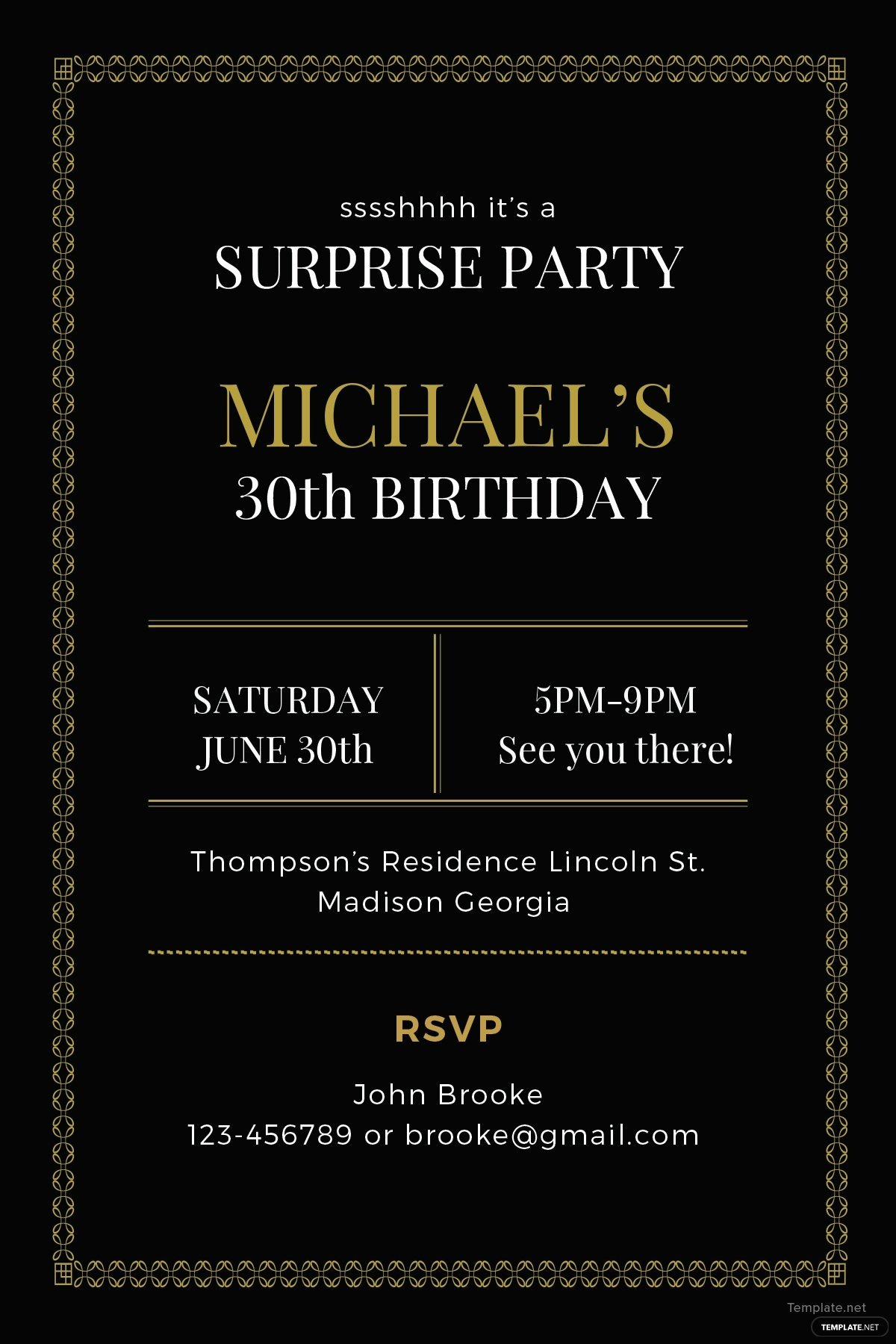 Free Surprise Party Invitation Template In Adobe