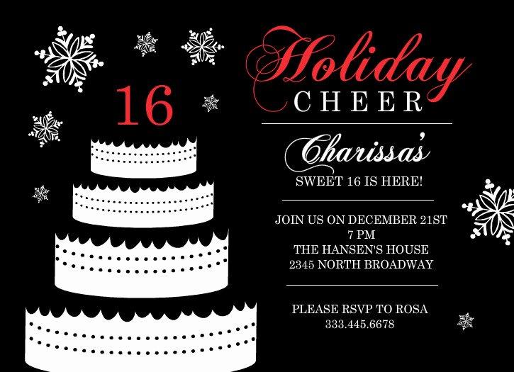 Free Sweet 16 Birthday Invitations Templates