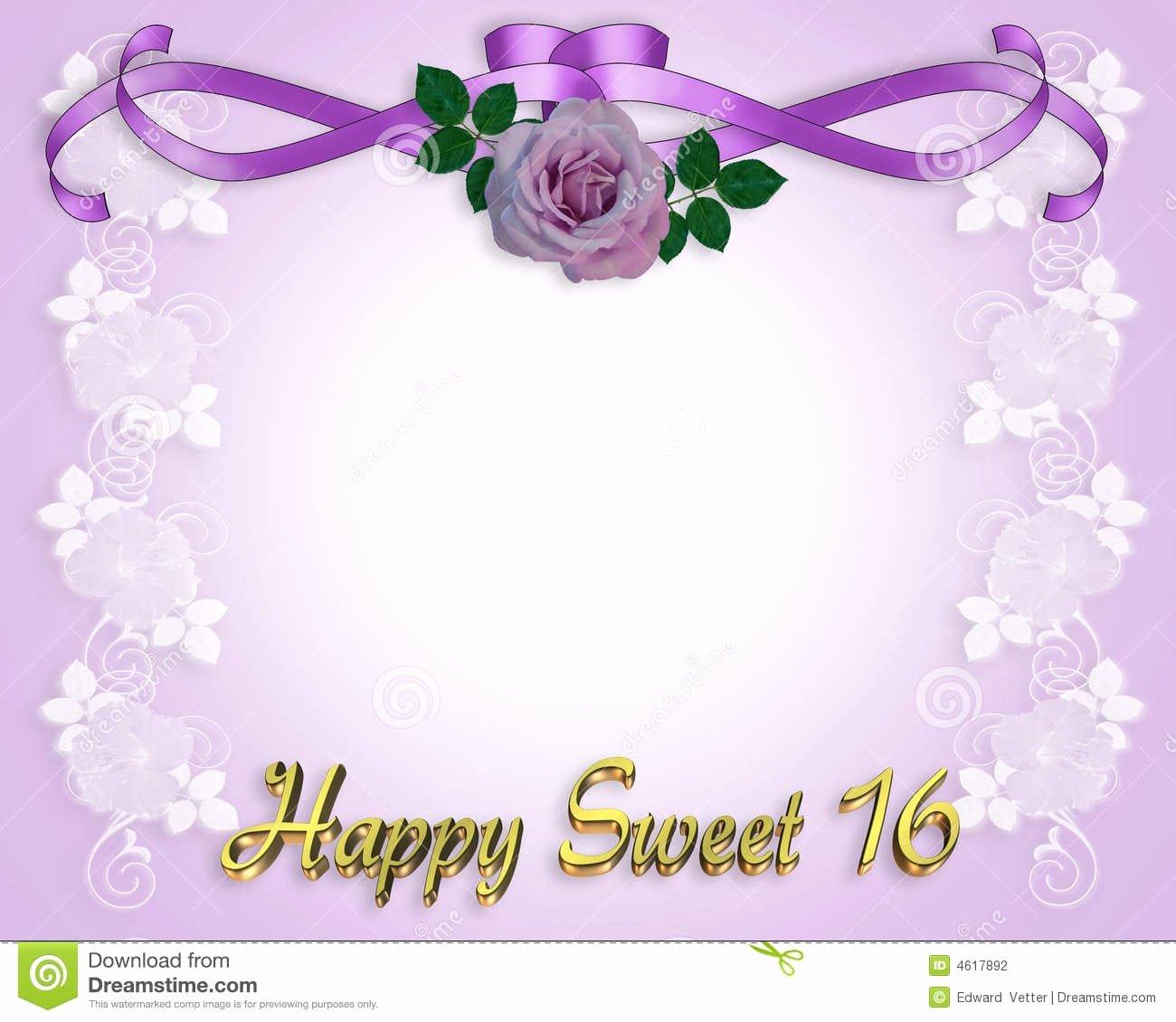 Free Sweet 16 Invitation Template