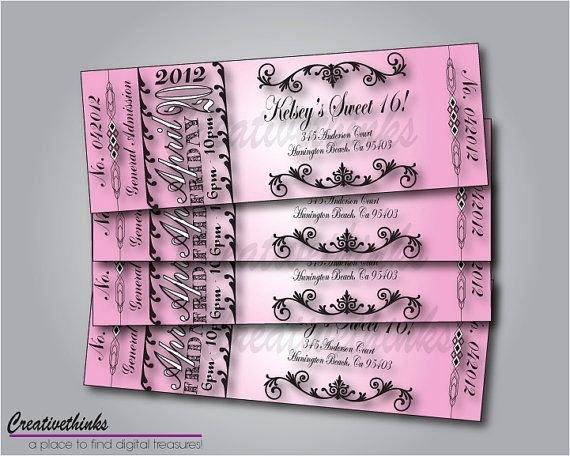 Free Sweet Sixteen Invitation Templates