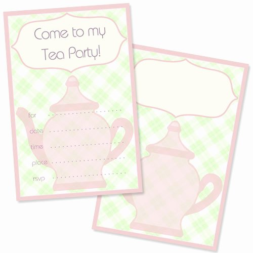 Free Tea Party Invitation Template — Printable Treats