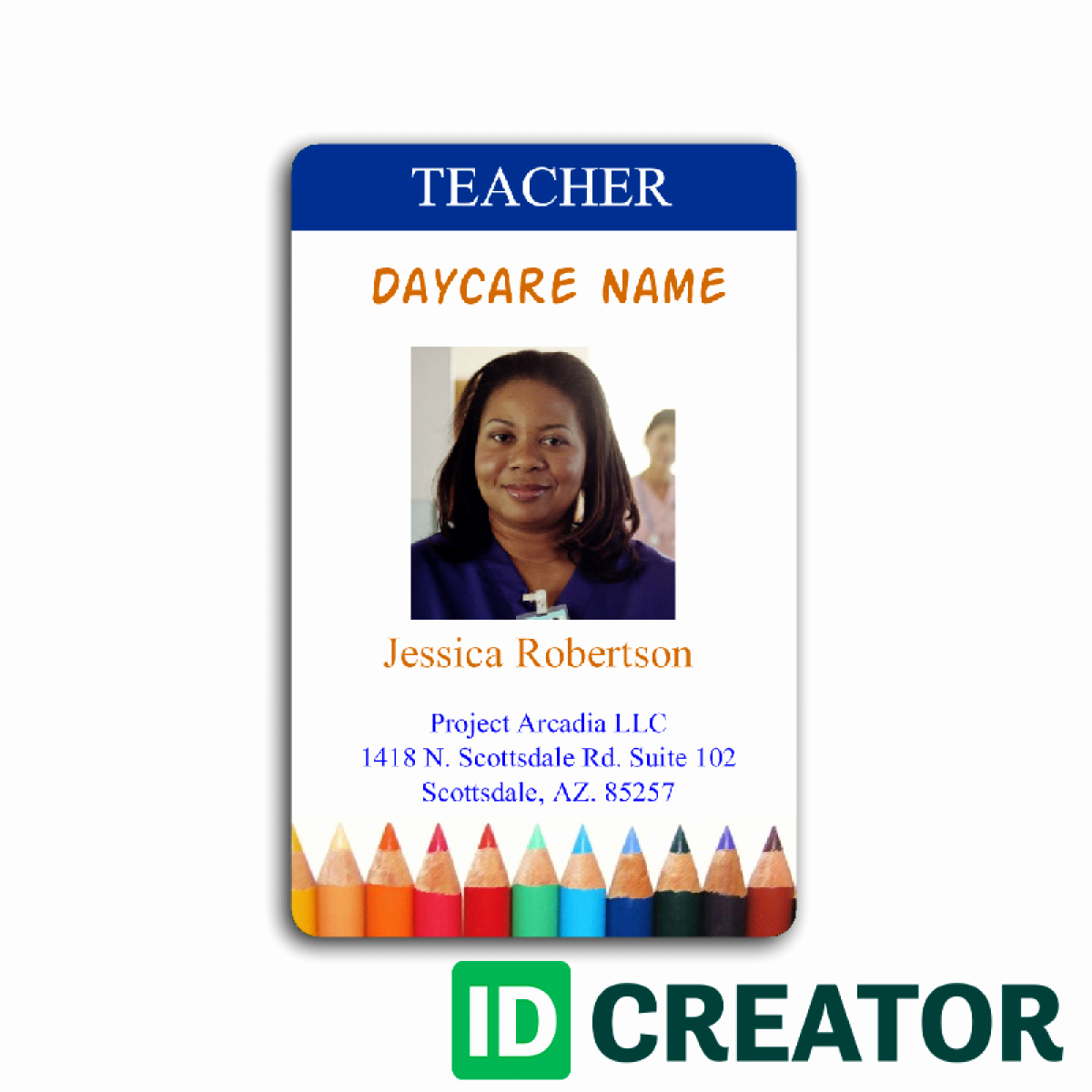 Free Teacher Id Card Template Templates Collections