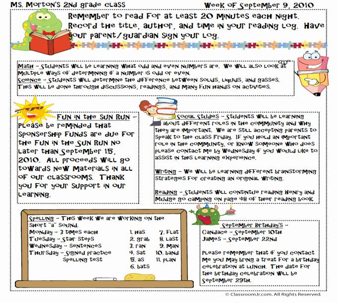 Free Teacher Newsletter Templates Downloads