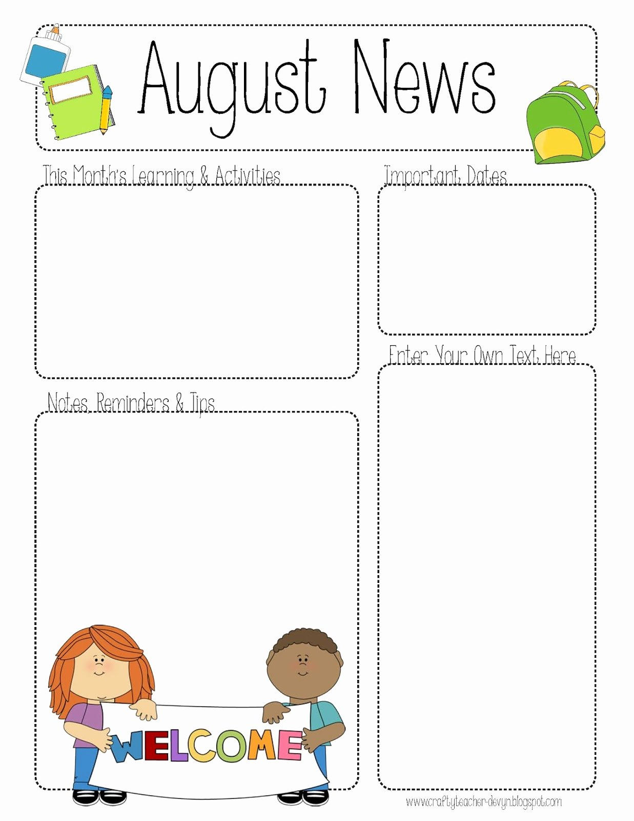 Free Teacher Newsletter Templates Printable