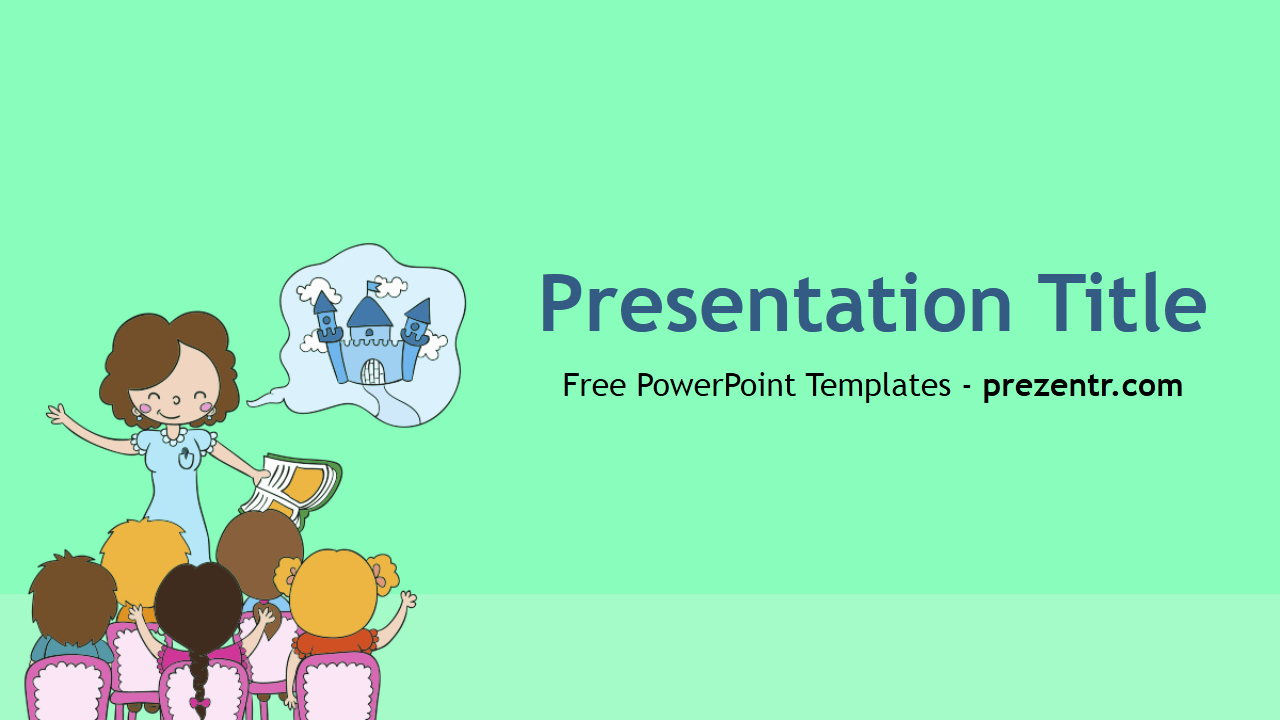 Free Teacher Powerpoint Template Prezentr Powerpoint