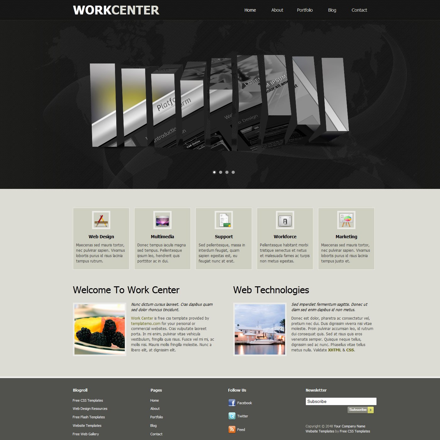 Free Template 355 Work Center