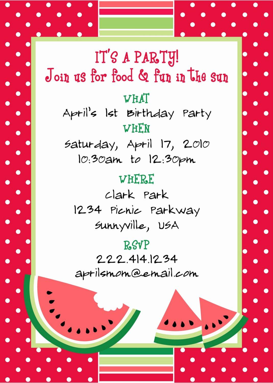 Free Template Spring Picnic Invitation
