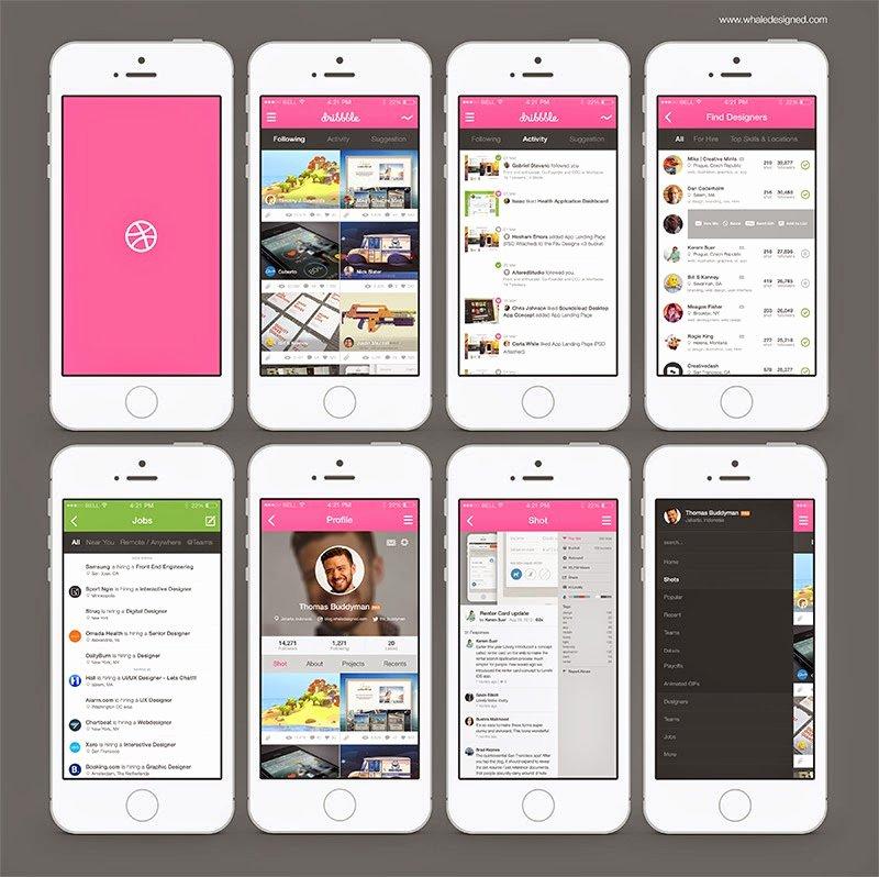 Free Template Website Free Mockup App Dribbble