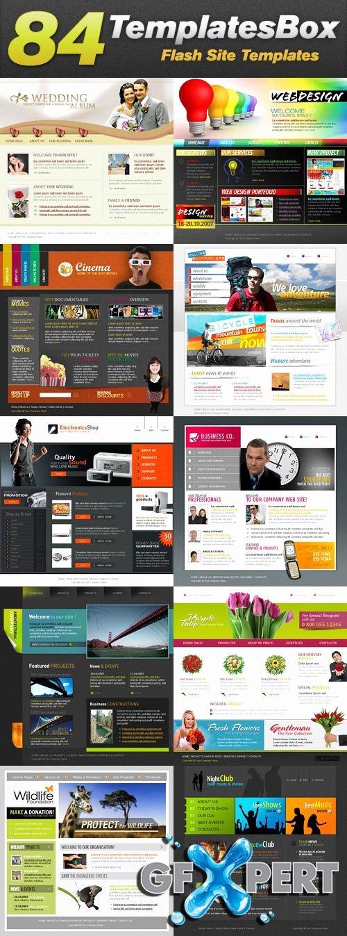 Free Templatesbox Flash Website Templates