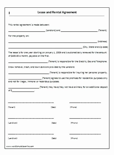 Free Tenancy Agreement Template Word Rental Templates