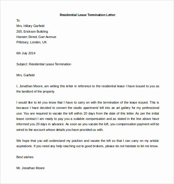 Free Termination Letter Template 14 Free Word Documents