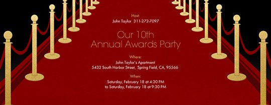Free theme Party Line Invitations