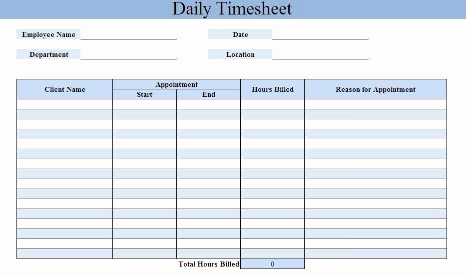 Free Timesheet Calculator Excel Word Pdf Template