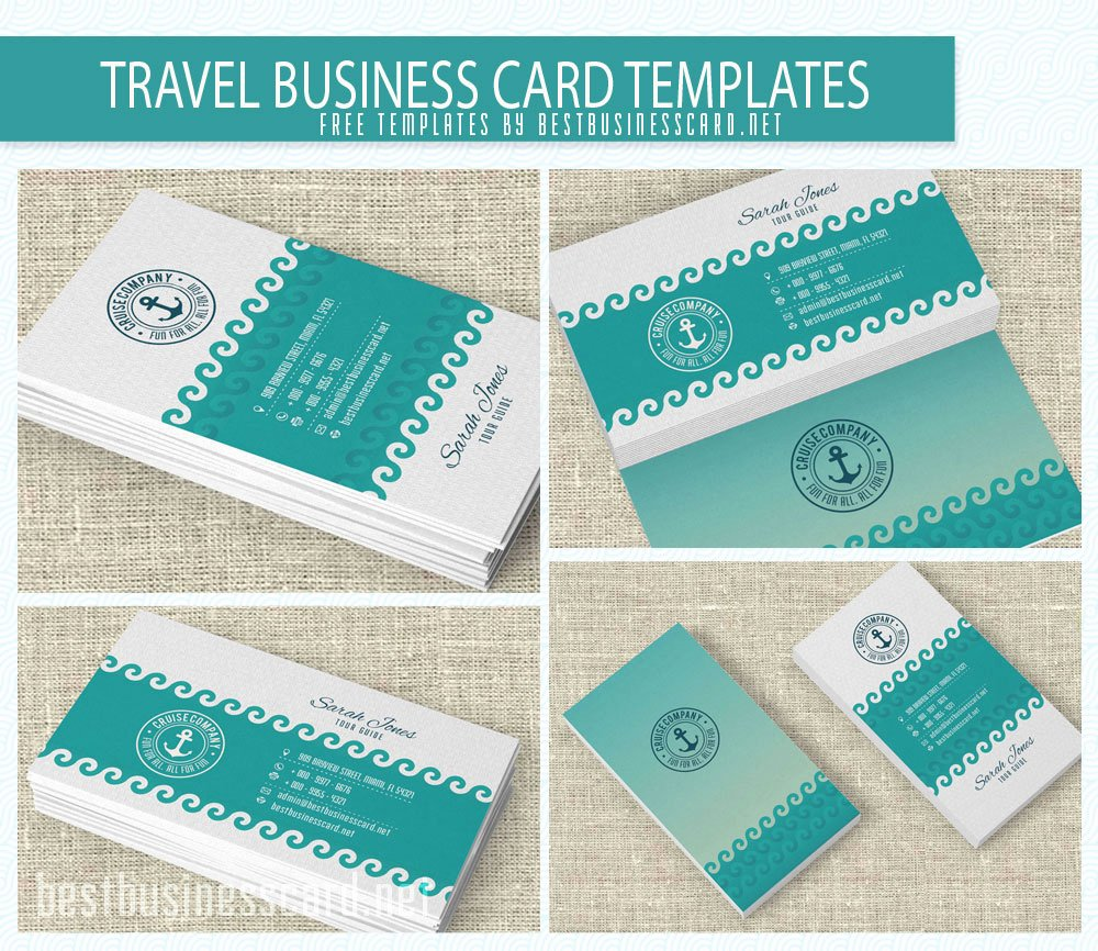 Free Travel themed Business Card Templates