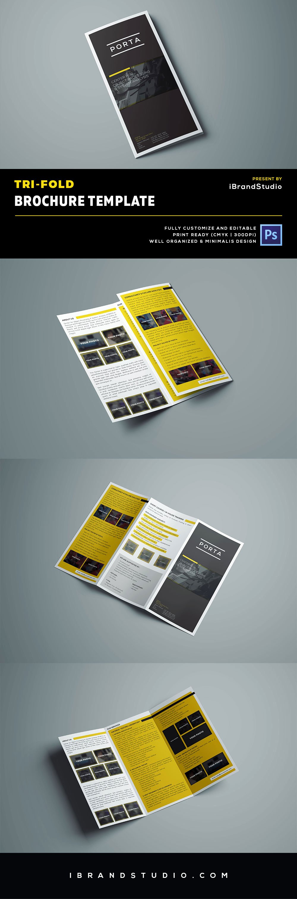 Free Tri Fold Brochure Template Psd Ideal for event or