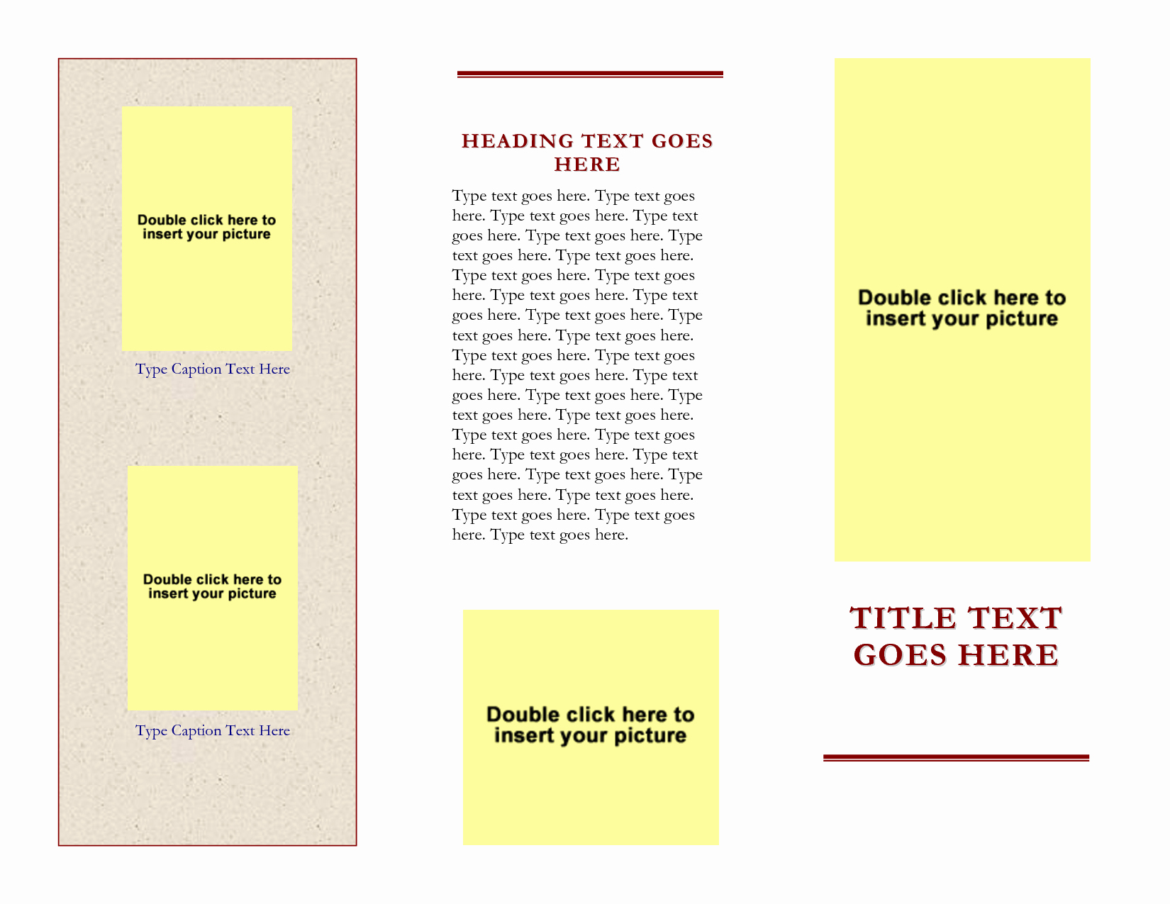 Free Tri Fold Brochure Templates for Word