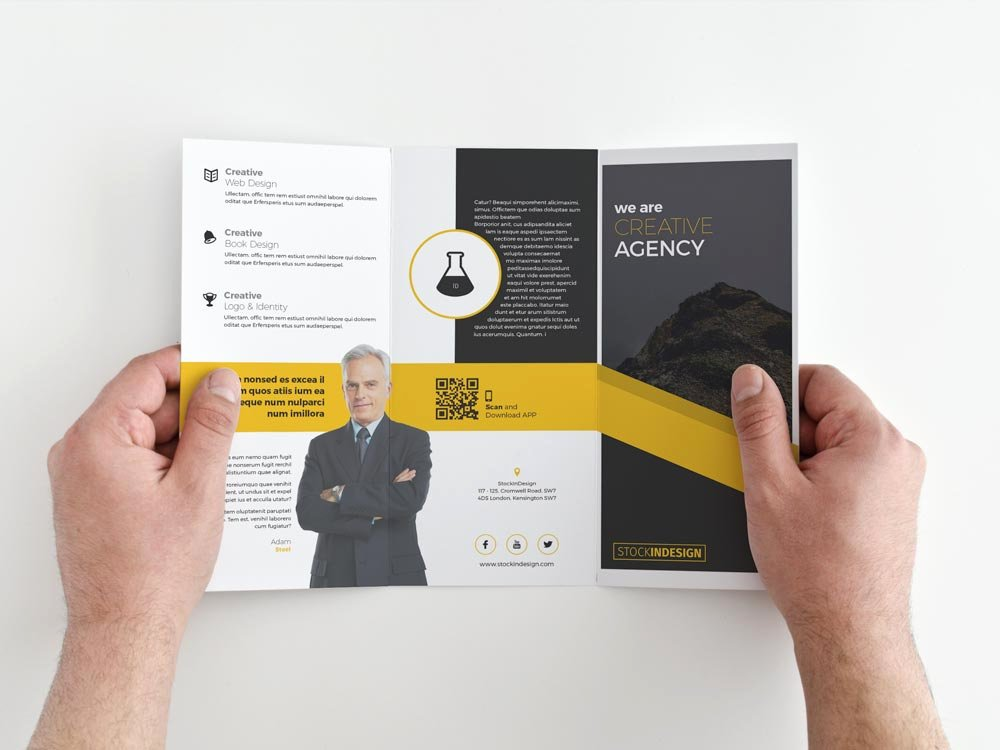 free trifold brochure indesign