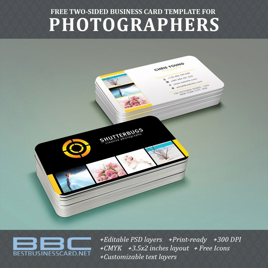 Free Two Sided Business Card Template for Graphers